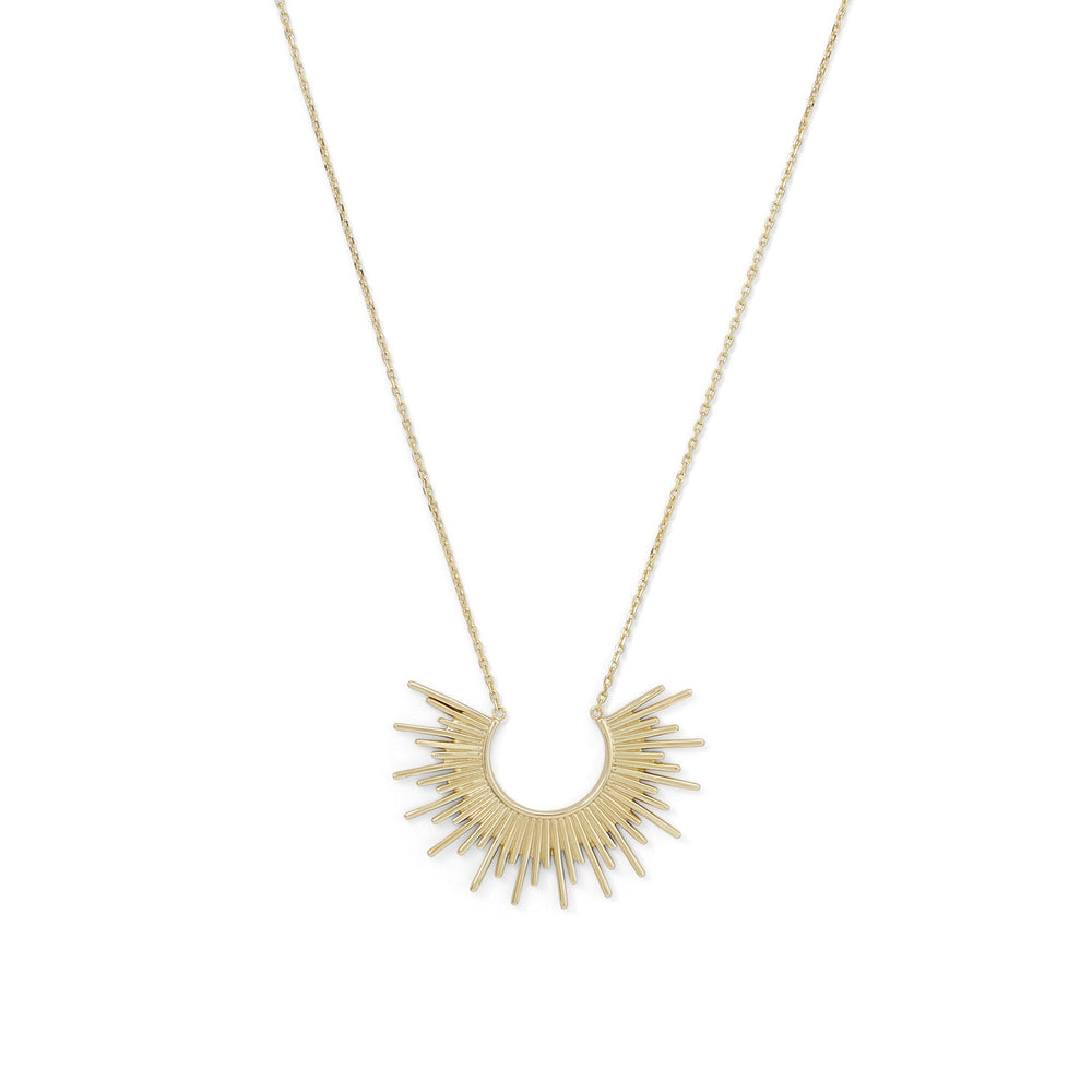 "Load image into Gallery viewer, ""Shine On!"" 14 Karat Gold Plated Sunburst Necklace"