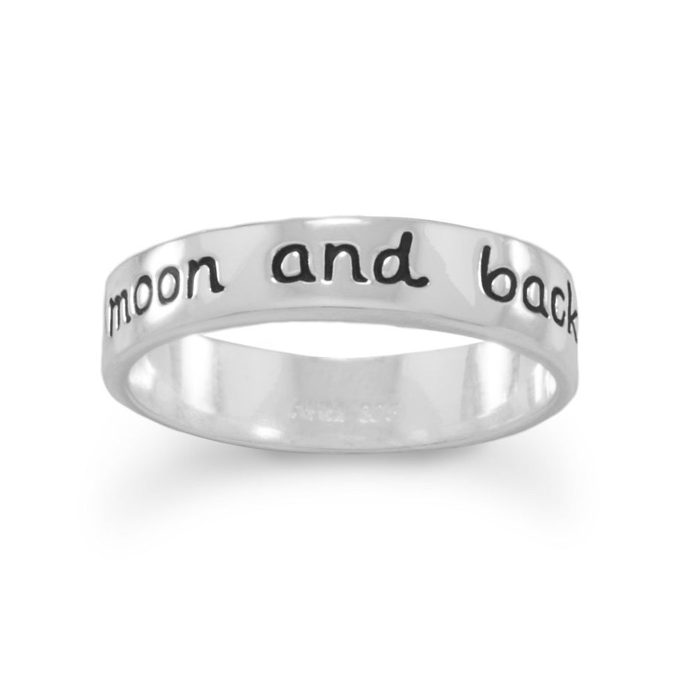 "Load image into Gallery viewer, ""Love you to the moon and back"" Ring"