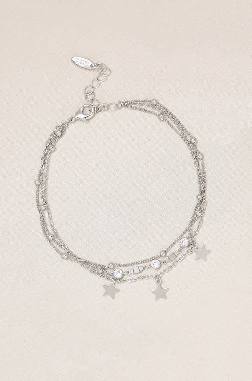 Load image into Gallery viewer, Crystal Star Searcher Charm Anklet