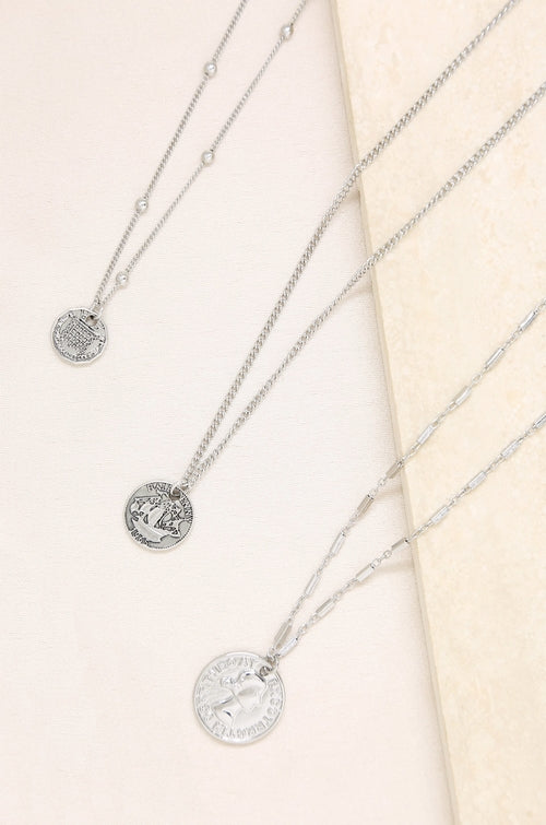 Three Coins Necklace Set