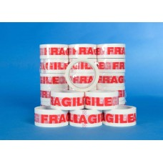 "2"" Fragile Low Noise Sealing Tape, 66m Per Roll 36 Per Box"