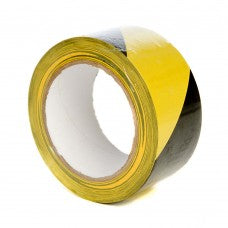 "2"" Yellow/Black Floor Marking Tape, 33m Per Roll 36 Per Box - ROQSOLID"