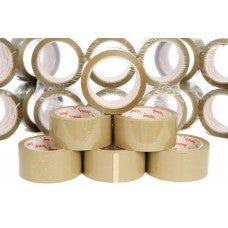 "2"" Brown Vibac Hot Melt Sealing Tape, 66m Per Roll 36 Per Box - ROQSOLID"