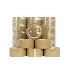 "2"" Brown Low Noise Sealing Tape, 66m Per Roll 36 Per Box - ROQSOLID"