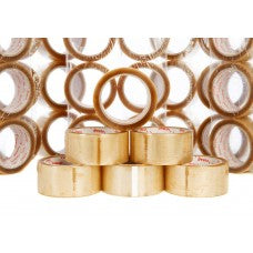 "2"" Clear Vibac Solvent Sealing Tape, 66m Per Roll 36 Per Box"