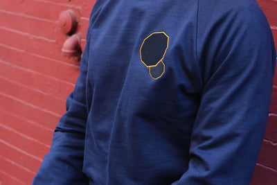 Navy - Fleece 100% Organic Cotton Crew Unisex Sweatshirt
