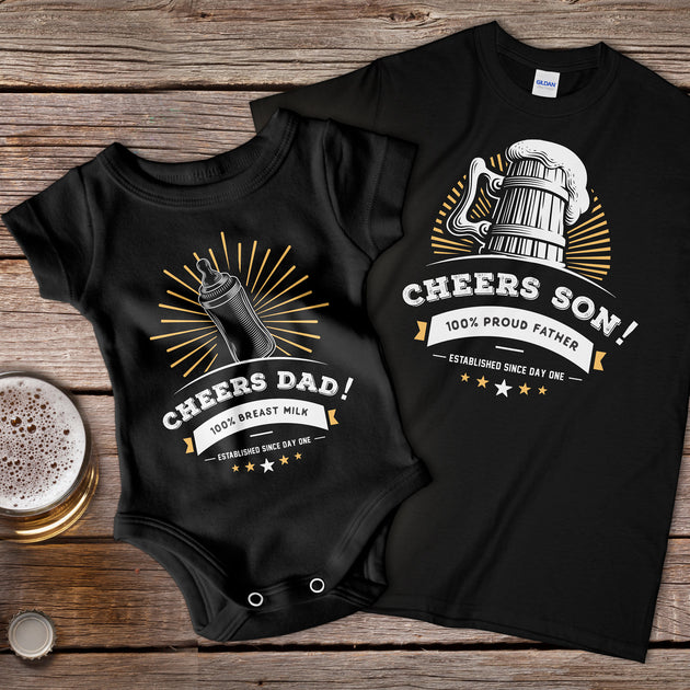 Cheers Son! Fathers T-shirt