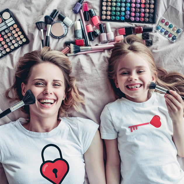Key to my heart mother and daughter matching t-shirts set