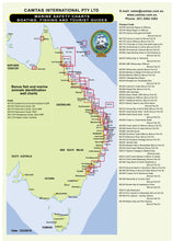 QLD Boating, Fishing, Camtas Marine Safety Chart - CAPE BOWLING GREEN to HINCHINBROOK IS, GREAT BARRIER REEF REGION, Townsville Offshore / MC684