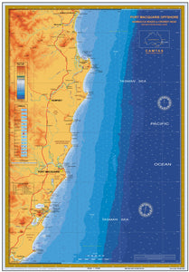 NSW Boating, Fishing, Camtas Marine Safety Chart - CROWDY HEAD to NAMBUCCA HEAD, Pt Macquarie / MC450