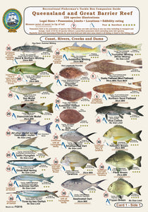 Fishermans Fish Identification Cards (Slates) - Qld. & Great Barrier Reef Fisherman's Tackle Box Companion Guide / FG016