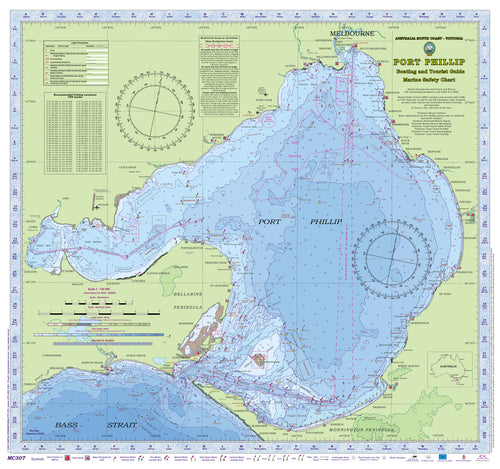 VICTORIA Boating, Fishing, Camtas Marine Safety Chart - PORT PHILLIP / MC307