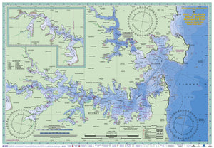 NSW Boating, Fishing, Camtas Marine Safety Chart - PORT JACKSON, SYDNEY HARBOUR / MC400