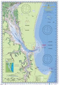 QLD Boating, Fishing, Camtas Marine Safety Chart - GREAT SANDY STRAIT SOUTH / MC604