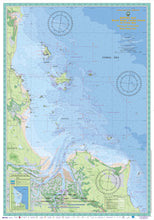QLD Boating, Fishing, Camtas Marine Safety Chart - KEPPEL BAY, Black Head, Curtis Island to Corio Bay / MC629