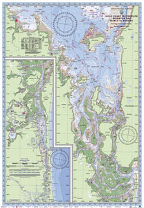 QLD Boating, Fishing, Camtas Marine Safety Chart - MANLY to NERANG, Moreton Bay, Gold Coast Waterways / MC510