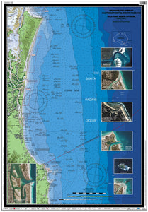 NSW / QLD Boating, Fishing, Camtas Marine Safety Chart - HASTINGS POINT to SOUTH PASSAGE, Gold Coast Offshore/ MC520