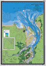 QLD Boating, Fishing, Camtas Marine Safety Chart - GREAT SANDY STRAIT NORTH / MC607