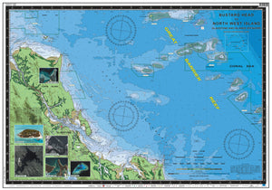 QLD Boating, Fishing, Camtas Marine Safety Chart - BUSTARD HEAD to NORTH WEST ISLAND, Gladstone Offshore / MC620
