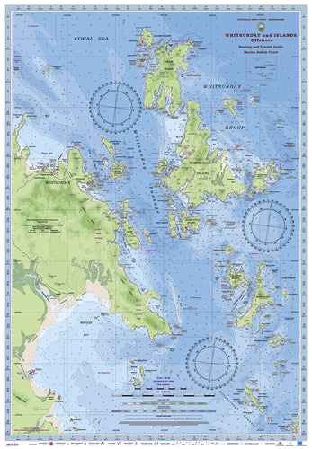 QLD Boating, Fishing, Camtas Marine Safety Chart - WHITSUNDAY and  ISLANDS, Goldsmith Is to Hayman Is / MC650