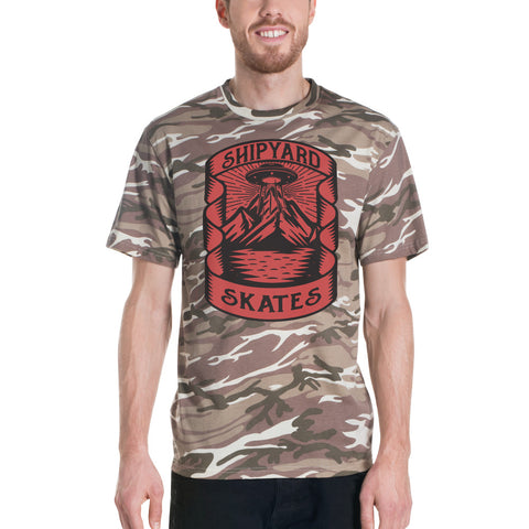 "Shipyard Skates ""CAMP SHIRT"" Short-sleeved camouflage t-shirt"