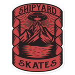 "Shipyard Skates ""CAMPING"" Bubble-free stickers"