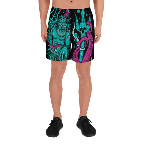 "Shipyard Skates ""LORD POSEDION"" Men's Athletic Long Shorts"