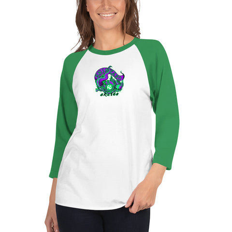"Shipyard Skates ""TERROR OF THE DEEP"" Ladies Raglan Tee"