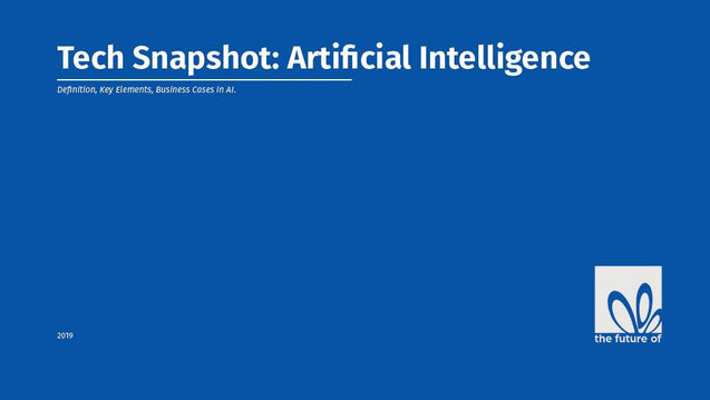 Tech Snapshot - Artificial Intelligence