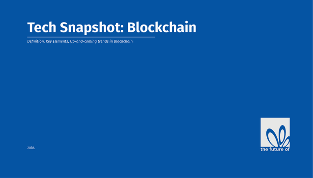 Tech Snapshot - Blockchain