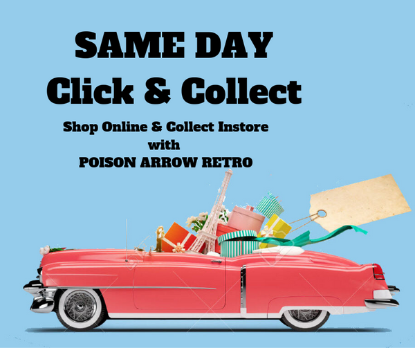 click and collect afterpay with poison arrow retro
