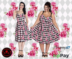 hell bunny harlequin dress