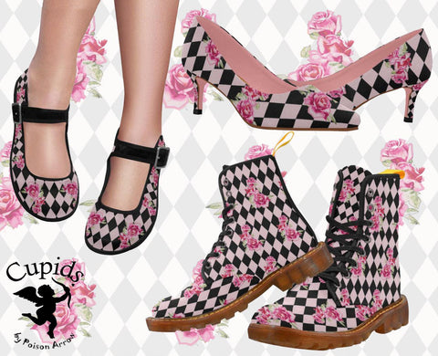 poison arrow retro ipswich cupids harlequin shoes boots
