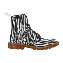 Load image into Gallery viewer, ZEBRA Women's Lace Up Combat Boots