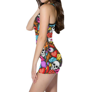 MEMENTOS Women's One Piece Boyleg Swimsuit XS-5XL