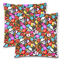 "Load image into Gallery viewer, MEMENTOS Throw Pillow Cover 18""x 18"" (Twin Sides) (Set of 2)"