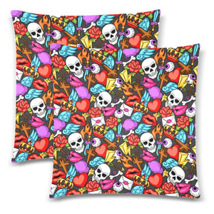 "MEMENTOS Throw Pillow Cover 18""x 18"" (Twin Sides) (Set of 2)"