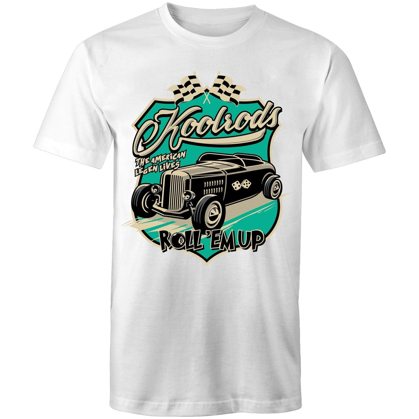 KOOLRODS TURQUOISE - Mens T-Shirt S-5XL