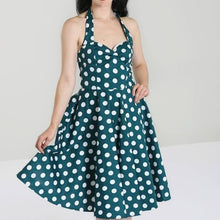 Load image into Gallery viewer, HELL BUNNY ROCKABILLY MARIAM DRESS Teal