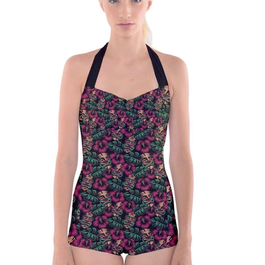 LEILANI TIKI BOYLEG ROCKABILLY SWIMSUIT