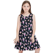 Load image into Gallery viewer, MILKSHAKE BLACK Kids' Skater Dress