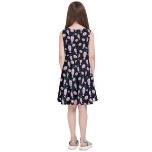 MILKSHAKE BLACK Kids' Skater Dress