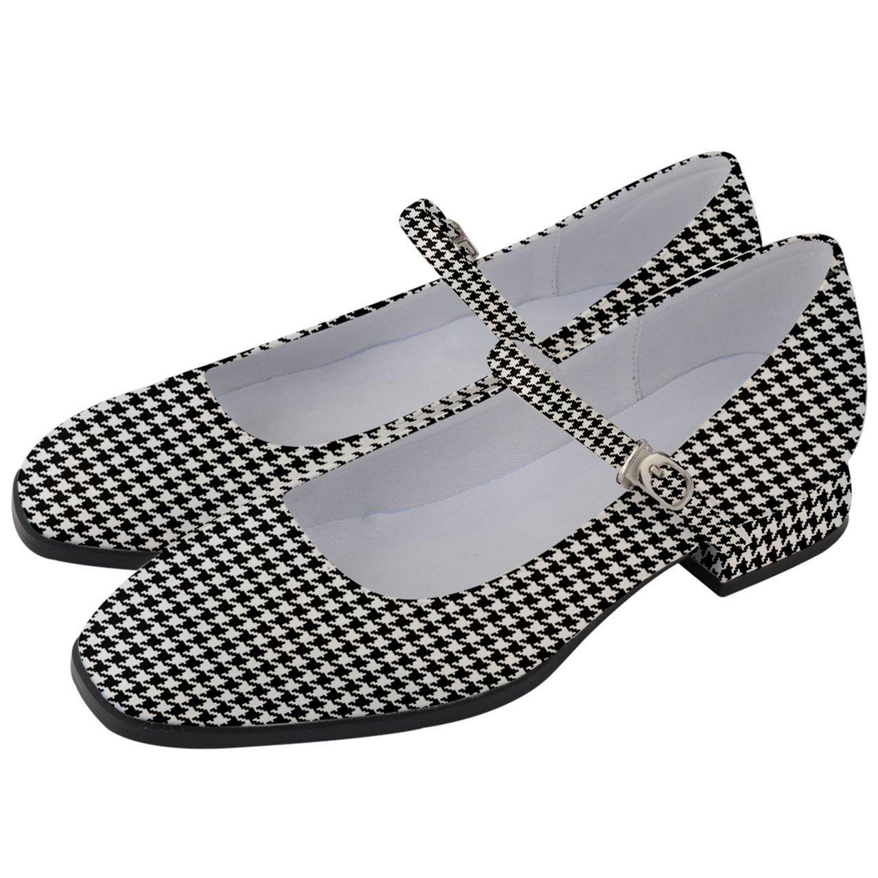 Houndstooth Women's Mary Jane Shoes 1