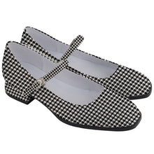 "Load image into Gallery viewer, Houndstooth Women's Mary Jane Shoes 1"" Heel"