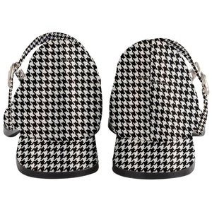 "Houndstooth Women's Mary Jane Shoes 1"" Heel"