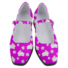 Load image into Gallery viewer, Marshmallow Bunnies Hot Pink Women's Mary Jane Shoes