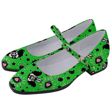 Load image into Gallery viewer, Bunny Bats Monster Green Women's Mary Jane Shoes