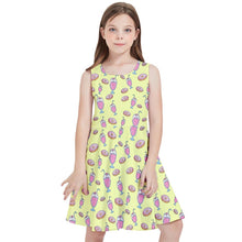 Load image into Gallery viewer, MILKSHAKE YELLOW Kids' Skater Dress