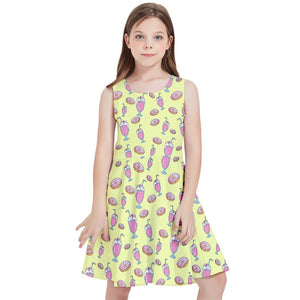 MILKSHAKE YELLOW Kids' Skater Dress