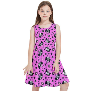 BUNNY BATS PINK Kids' Skater Dress